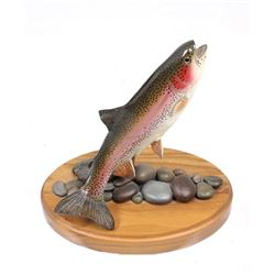Hand Carved Trophy Trout Figurine by Eric Thorsen