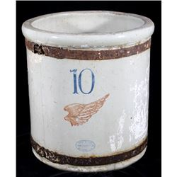 Antique Red Wing 10 Gallon Glazed Crock