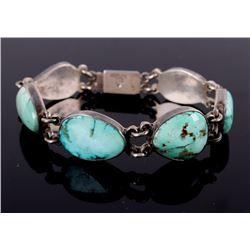 Navajo Kingman Turquoise Sterling Bracelet
