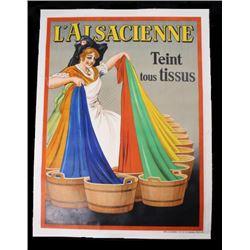 1930 L'Alsacienne Tient Tous Tissus Poster