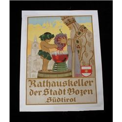 Rathauskeller Authentic Poster by Albert Stolz