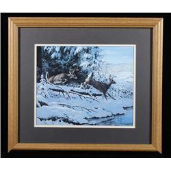 Persis Clayton Weirs Deer in Winter Print