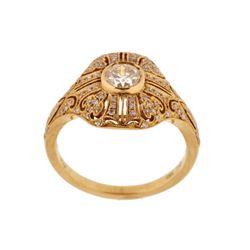 EXCELLENT Diamond & 18K Gold Vintage Estate Ring