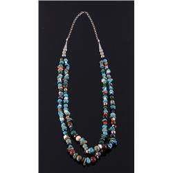 Navajo Multistrand & Multistone Necklace
