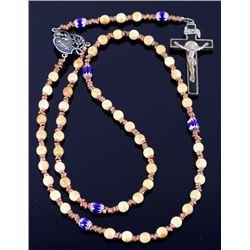 Wooly Mammoth Ivory & Chevron Beaded Rosary