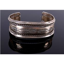 Navajo Old Pawn Sterling Silver Bracelet c. 1930-