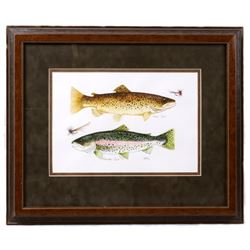Rainbow & Brown Trout by Kimsiso Original Art