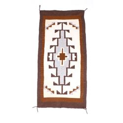 Navajo Old Crystal Wool Trading Post Rug