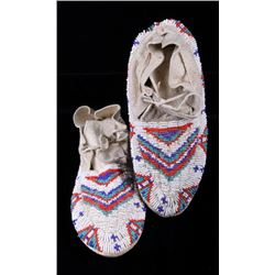 Shoshone Fully Beaded Moccasins c. 1950