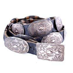 Navajo Old Pawn Silver Concho Belt