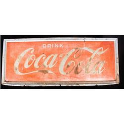 Early Drink Coca-Cola Advertising Sign 1930-1950's