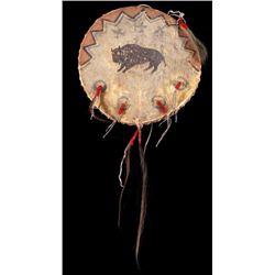 Sioux Polychrome Buffalo & Thunderbird War Shield
