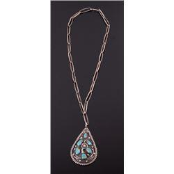 Navajo Kingman Turquoise Necklace