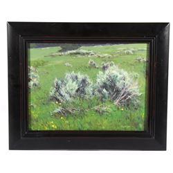 Original Taylor Lynde Oil Painting Titled 'Sage'