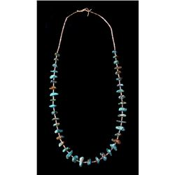 Navajo King's Manassa Turquoise & Heishe Necklace