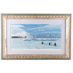 K. Shackleton (1923-2015) Framed Mt. Erebus Print