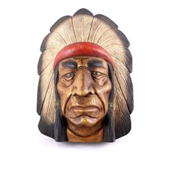 Cigar Store Trade Sign Native American Indian Head