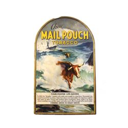 Mail Pouch Tobacco Counter Advertising Sign