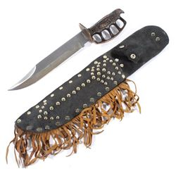 Liberty Knuckle Duster Knife with Leather Sheath