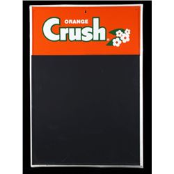 Orange Crush Chalkboard Menu