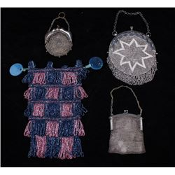 Ladies Antique Beaded and Mesh Purse Collection