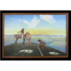 Signed Alderman Native American Painting