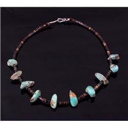 Navajo King's Manassa Turquoise Necklace c. 1900