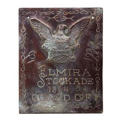 Civil War c. 1864 Elmira Stockade Guard COF Plaque