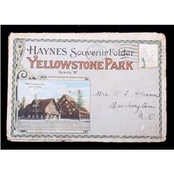 1915 Yellowstone Park, Haynes Souvenir Folder