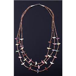 Navajo Multi-Stone Heishe Bead Fetish Necklace