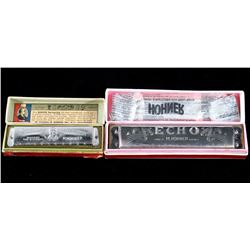 Pair of Vintage M. Hohner Harmonicas w/ Boxes