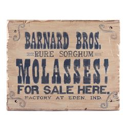 Barnard Bros. Molasses Advertising Sign