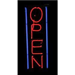 Neon Open Advertising Sign