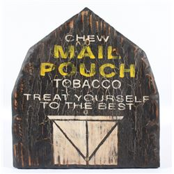 Hand Painted Mail Pouch Tobacco Advertising Sign