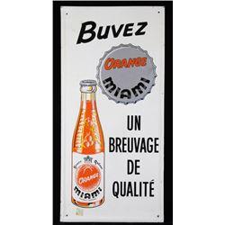 Buvez Orange Soda Metal Advertising Sign