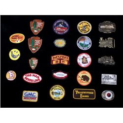 Assorted Collection Of Patches and Buckles