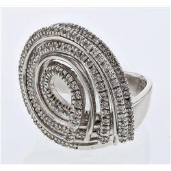0.91 CTW Diamond Ring 14K White Gold - REF-110H4M