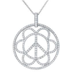1.55 CTW Diamond Necklace 14K White Gold - REF-112K2W