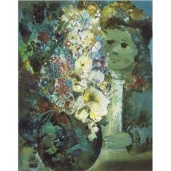 Daniel O'Neill (1920-1974) GIRL WITH FLOWERS