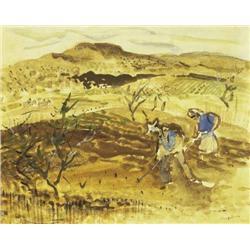 George Campbell RHA (1917-1979) SMALL FARM