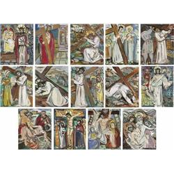 Evie Hone (1894-1955) STATIONS OF THE CROSS FOR K