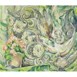 Mary Swanzy HRHA (1882-1978) ROMANTIC WINDOW VIEW