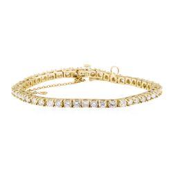 4.80 ctw Diamond Bracelet - 14KT Yellow Gold