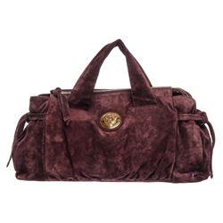 Gucci Burgundy Suede Hysteria Tote Bag