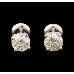 14KT White Gold 1.69 ctw Diamond Stud Earrings