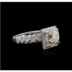 18KT White Gold 3.57 ctw Diamond Ring
