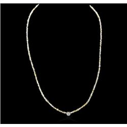 14KT Yellow Gold 21.46 ctw Rough Diamond Necklace