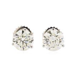 3.03 ctw Diamond Earrings - 14KT White Gold