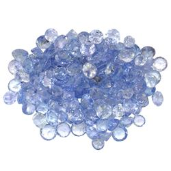 15.27 ctw Round Mixed Tanzanite Parcel