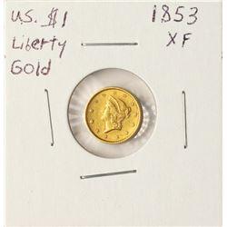 1853 $1 Liberty Head Gold Coin